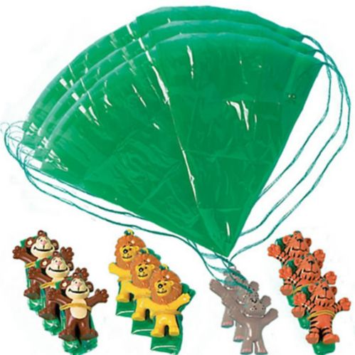 Zoo Animal Paratroopers, 12-pk