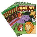 Planches d'activités amusantes Animaux de la jungle, 8 pièces | Amscannull