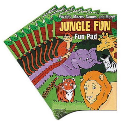 Planches d'activités amusantes Animaux de la jungle, 8 pièces