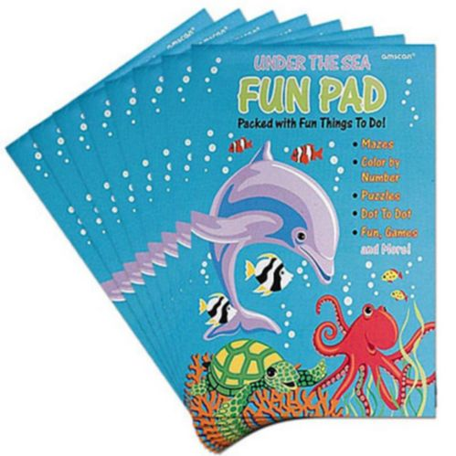 Under the Sea Fun Activity Pads, 8-pc