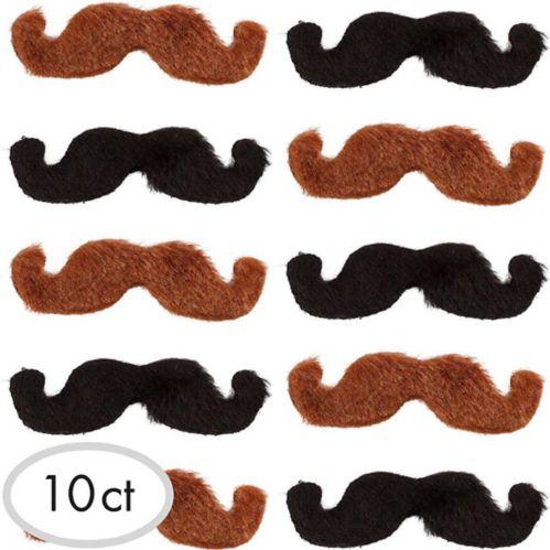 Moustaches Western noires et blondes, paq. 10