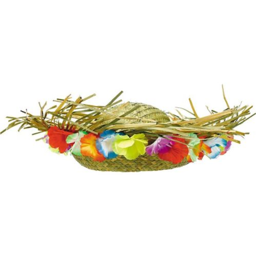 Floral Trim Hawaiian Straw Hat Product image