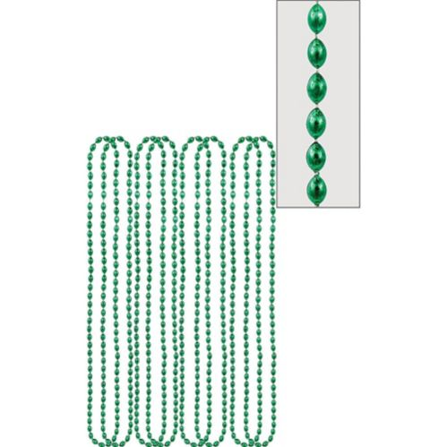 Metallic Bead Necklaces, 8-pk