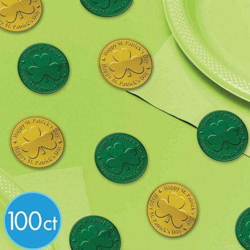 Confettis de table Monnaie verte et or, paq. 100