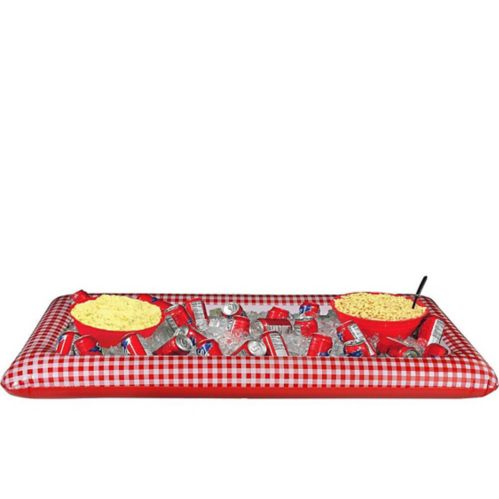 Picnic Party Red Gingham Inflatable Buffet Cooler Product image
