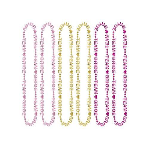 Colliers de perles Équipe de la mariée, paq. 6