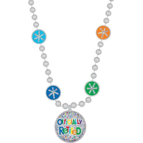 Happy Retirement Celebration Pendant Bead Necklace