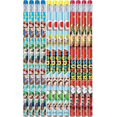 Super Mario Pencils, 12-pk