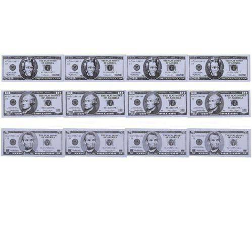 Liasses d'argent de jeu, paq. 12