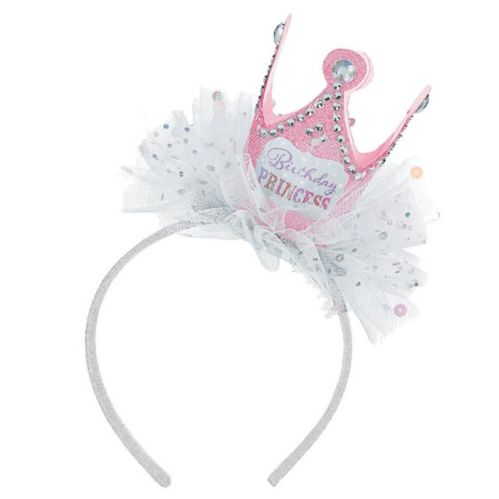 Pink Birthday Princess Crown Headband