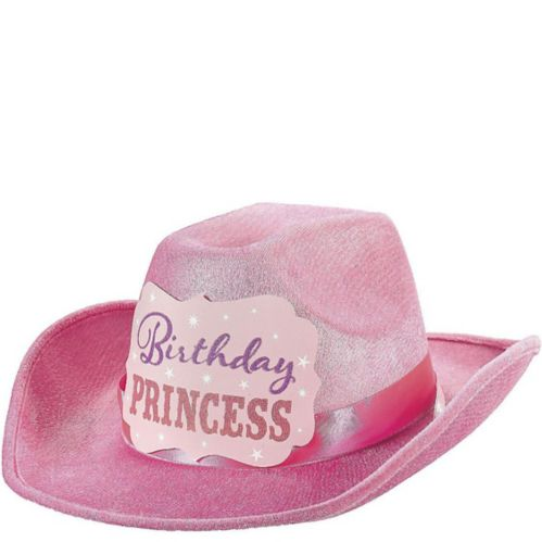 Chapeau de cowboy rose Birthday Princess