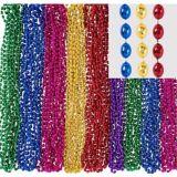 Colliers de perles métalliques, paq. 24 | Amscannull