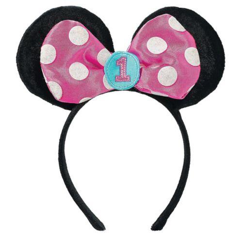 Bandeaux sportifs 1eranniversaire oreilles Minnie Mouse