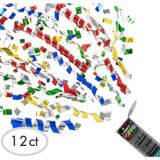 Multicolour Confetti Party Poppers, 12-pk | Amscannull