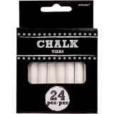 White Chalk Sticks, 24-pk