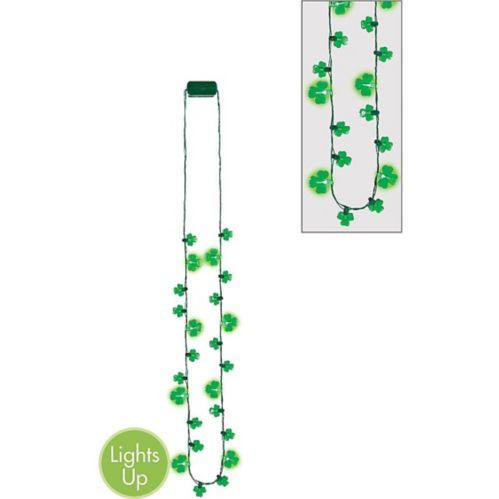 Light-Up LED Shamrock Necklace