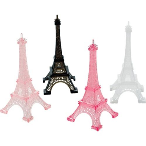 A Day in Paris Eiffel Tower Table Decorations, 4-pk