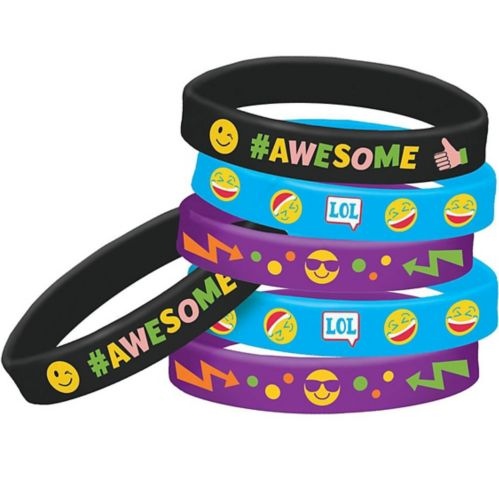 Smiley Wristbands, 6-pk