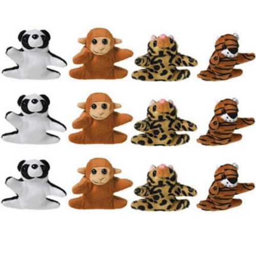 Mini-animaux en peluche, paq. 12