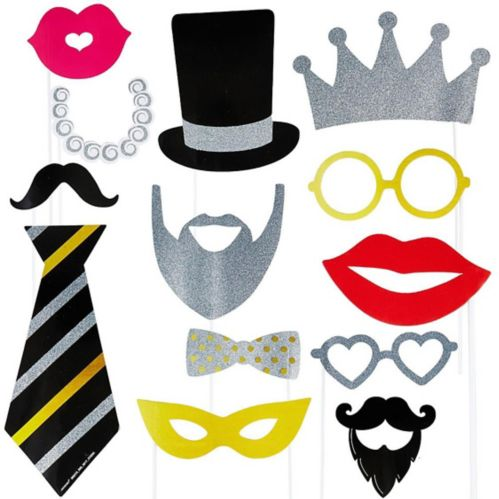Fancy Photo Booth Props, 13-pc