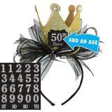 Mini Sparkling Celebration Birthday Top Hat Headband Kit