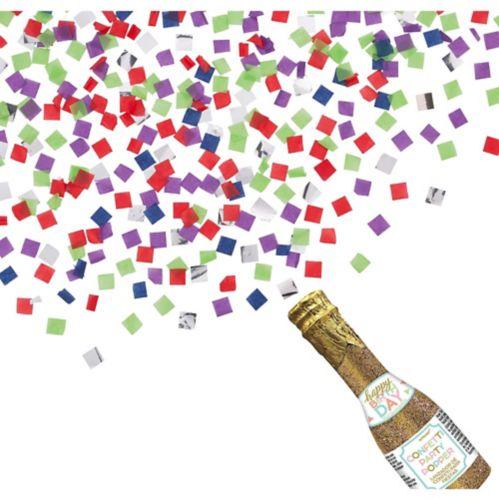 Bouteille de confettis à paillettes pour anniversaire