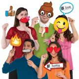 Trendy Smiley Photo Booth Props, 13-pk