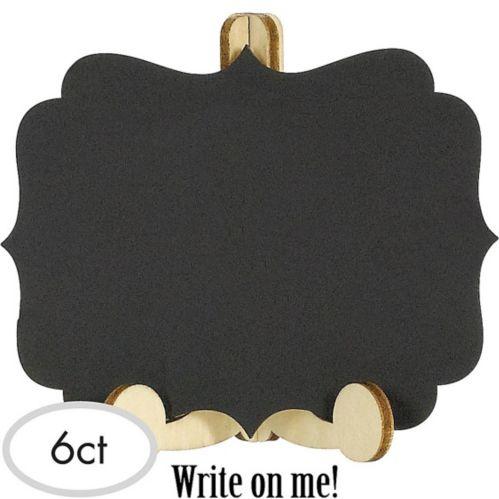 Mini chevalet en bois pour tableau noir, paq. 6