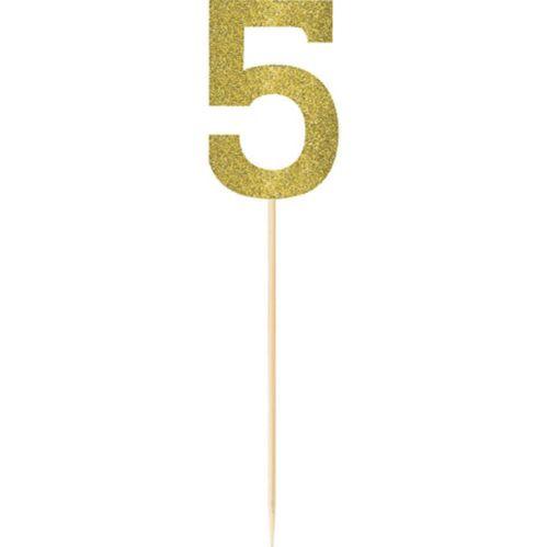 Piquets no 5 étincelants dorés, grand, paq. 2 Image de l'article