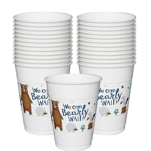 Can Bearly Wait Plastic Cups, 25-pk