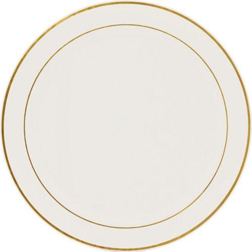 Gold Trimmed Cream Plastic Platter Product image