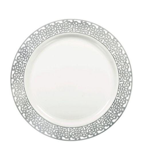 Premium Lace Trim Lunch Plates, 20-ct