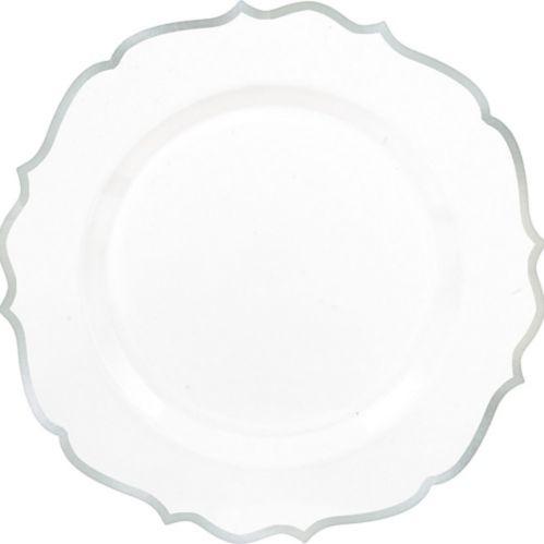 Ornate Premium Plastic Dinner Plates, 10-ct