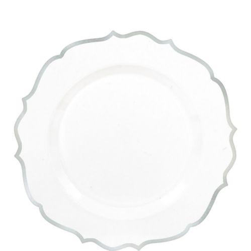 Assiettes à dessert ornementales en plastique de première qualité, paq. 20 Image de l'article