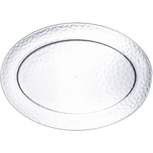 Premium Plastic Hammered Oval Platter Product image