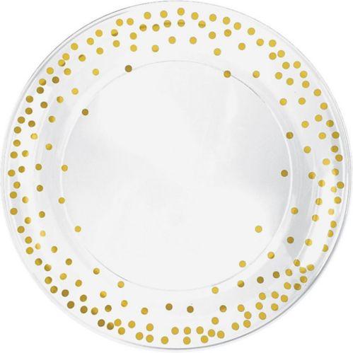 Metallic Polka Dots Round Platter