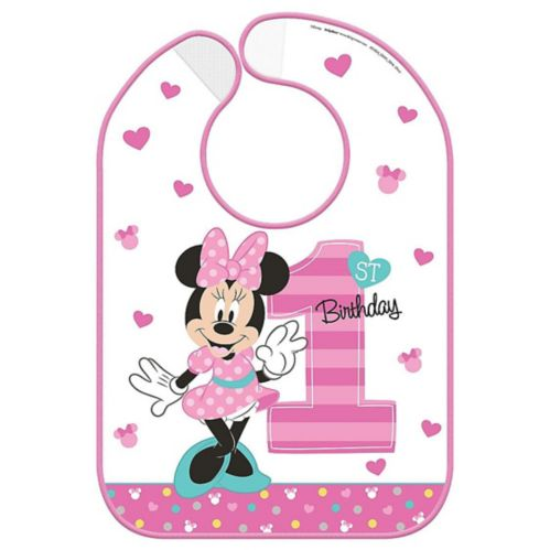 Bavette 1eranniversaire Minnie Mouse