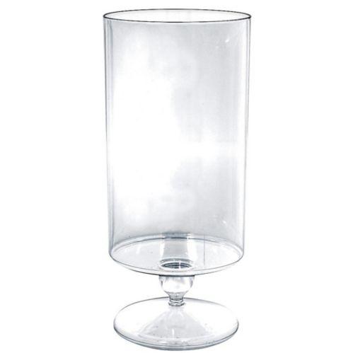 Contenant cylindrique sur piédestal en plastique