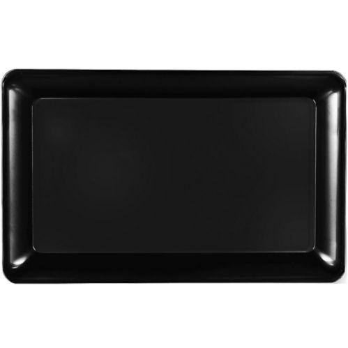 Plateau rectangulaire en plastique noir Image de l'article