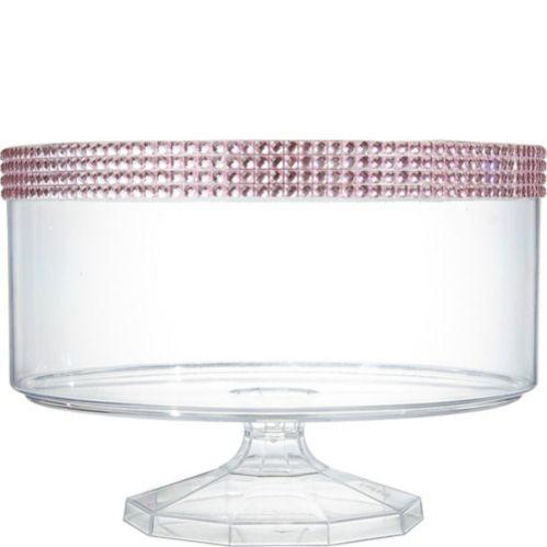 Plastic Rhinestone Trifle Container, Medium, Pink Product image