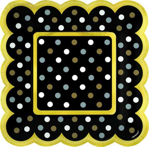 Polka Dot Scalloped Appetizer Plates, 36-pk Product image