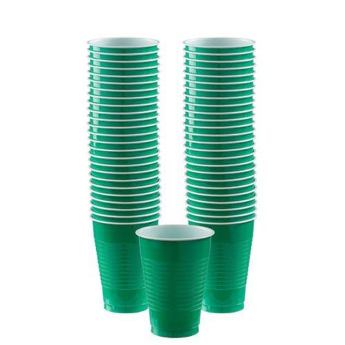 Verres en plastique, vert festif, paq. 50 Image de l'article