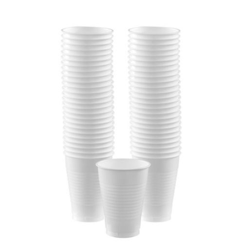 White Plastic Cups, 50-ct Product image