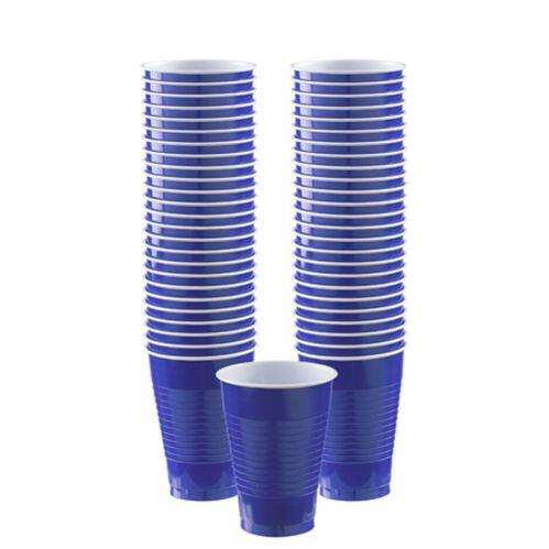 Verres en plastique, bleu royal, paq. 50 Image de l'article
