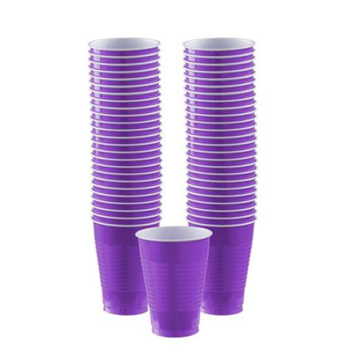 Purple Plastic Cups, 50-ct Product image