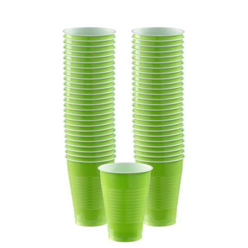 Kiwi Green Plastic Cups, 50-pk Product image