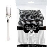 Classic Premium Plastic Forks, 20-pk