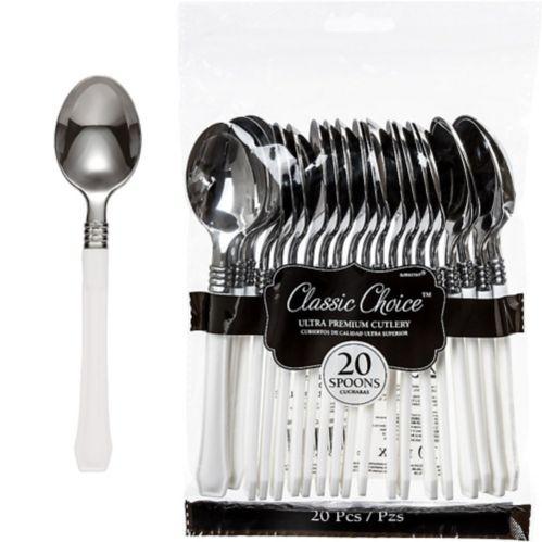 Cuillères classiques en plastique de haute qualité, paq.20 Image de l'article