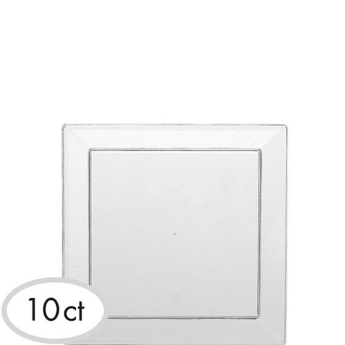 Clear Plastic Appetizer Plates, 10-pk