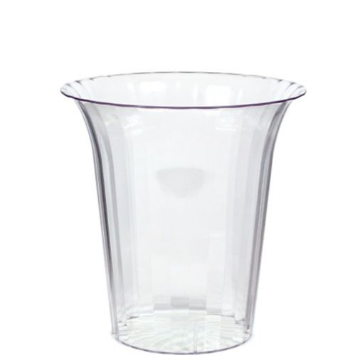 CLEAR Plastic Flared Cylinder Container